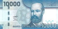 Billet de 10000 pesos face
