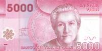 Billet de 5000 pesos face
