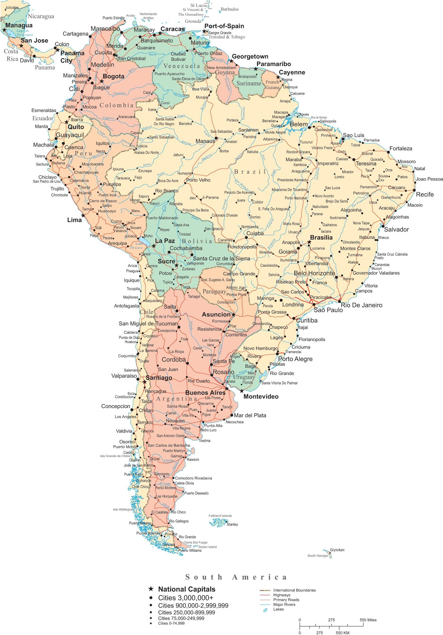 Carte Route Amerique.Cartes Du Chili Plan De Villes